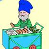 Hotdog man colouring Games