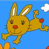 Jeux Colorie le lapin