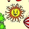 Kleurplaat zomer Spelletjes