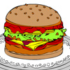 Online coloring Hamburger Games