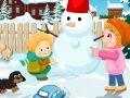 أطفال صغار في الثلج