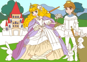 Happy Princess coloring