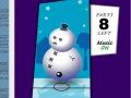 تزيين لعبة رجل الثلج