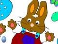 لوحة تلوين أرنب عيد الفصح
