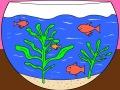 تلوين حوض السمك
