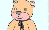 Escolhes umas belas cores para este ursinho de peluche?