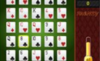 Faz tantas combinações de póquer quanto possível seleccionando cinco cartas. Um par, dois pares, trios, Straight, Flush, Full house, quadras, Straight flush... Cada vez que fizeres uma combinação de póquer, a tua barra 'Frenzy' encherá. Quando toda a barra estiver cheia, as cartas douradas e verdes aparecem. As cartas douradas multiplicam a tua pontuação e as cartas verdes valem um tempo de bónus.