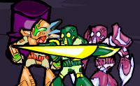 O robot Rodriguez está zangado e quer vingança. Vê o que acontece quando ele luta contra outros robots!