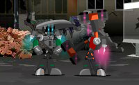 És um robot que foi largado numa zona inimiga, que está cheia de robots assassinos. O teu objectivo é simples: sobrevive o maior tempo possível e abate tantos inimigos quanto possível!