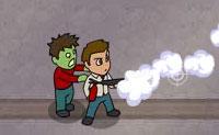 O teu telefone está a tocar: é um dos teus amigos, que está a ser ameaçado por esfomeados zombies. Tu, como matador de zombies, vais estragar os planos dos zombies, claro!