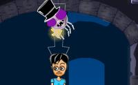 A Lua está cheia, e este cruzamento entre uma aranha e um vampiro precisa de algum sangue humano! Ele faz uma teia, para chegar cada vez mais perto das suas presas. Ele apenas se pode ligar a pontos dentro do círculo verde. Em cada nível a aranha tem um número máximo de fios que pode atar. Há também todo o tipo de itens que podem ser usados de forma inteligente para iniciar um movimento: um balão, por exemplo, que ele pode usar para voar à volta da casa. Corta a teia no momento e local correcto para largar a pequena aranha em cima das suas presas!