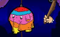 Uma pinhata, sabes o que �? � uma figura v�vida colorida, cheia de todos os tipos de coisas boas e por vezes de presentes tamb�m! A origem da pinhata parece ser o M�xico, e � usada nas festas de anivers�rios de crian�as e no Natal. Neste jogo vais tentar tirar tantos doces quanto poss�vel da pinhata atingindo-a, para a apanhares com o teu balde. Duas coisas s�o importantes: atinge a pinhata t�o dura e frequentemente quanto poss�vel, e p�e o teu balde num local onde haja montes de doces a cair. Assegura que n�o vais para casa de est�mago vazio!