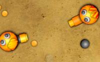 Fixe, um novo torneio de pistolas de bolas está a ser organizado! A pistola de bolas que elimina o cruel governante será o novo imperador. Tu, a pequena pistola de bolas, queres participar , também e vais tentar ganhar o torneio. Cuidado com as armadilhas de picos: quando pisas uma delas, serás seriamente ferido! Completa todos os níveis com o máximo de dinheiro e pontos de habilidades e torna-te no novo líder!
