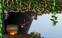 Estes canibais t�m fome! Tenta lan�ar o boneco para dentro do caldeir�o no m�nimo o de tentativas poss�vel e apanha o m�ximo de vegetais e frutos durante o seu voo, para temperar tudo. Cuidado para que os canibais n�o te apanhem e vai a uma medalha de ouro!