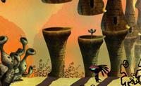 Neste belo jogo de aponta e clica vais em busca do Wok sagrado junto com um pequeno alienígena. Este Wok aterrou neste planeta, e desde esse momento, ele e o seu colega veneram o item que parece ter poderes especiais. Os malvados alienígenas descobriram o Wok especial também, e levaram-no para um sítio desconhecido. É tempo de o encontrar! Clica pela ordem correcta nos itens que podes combinar para fazer o teu caminho por este meio misterioso.