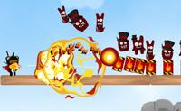 O Urso Ninja e o Teddy Roxo terão de lutar novamente contra os monstros que encontraram e capturaram por debaixo das camas das crianças! Os monstros fugiram das suas jaulas, e agora o Urso Ninja e o Teddy Roxo têm de os perseguir e eliminá-los um por um.  Ajuda-os a abater todos os monstros das plataformas! Podes usar 6 diferentes armas.