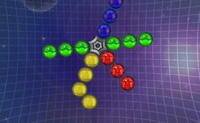 Montes de bolas coloridas colam-se a esta roda. Podes disparar bolas da mesma cor a elas. Se fizeres um grupo de pelo menos 3 bolas id�nticas, elas explodem. Logo que tenhas apagado todas as bolas coloridas, passas ao n�vel seguinte. Mant�m as bolas dentro do c�rculo, caso contr�rio perdes! A toda a hora os b�nus aparecem, como bombas ou uma 'bola de todas as cores': usa-os, pois eles ajudam-te a passar ao n�vel seguinte mais facilmente.