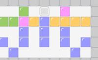 Arraste os blocos e conduza o bloco azul até à abertura à direita!