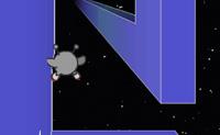 Já alguma vez tinhas visto isto: uma ponte tremendamente grande no espaço? Infelizmente a ponte não é muito direita: há todo o tipo de curvas e obstáculos. Por vezes há alienígenas que tentam passar a ponte, a pé ou em patins. A andar é mais lento mas mais fácil, de patins é muito rápido mas a hipótese de caíres da ponte abaixo é muito maior. A escolha é tua! Podes ajudar estes alienígenas a chegar ao outro lado?