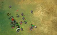 Defende a tua necrópolis contra ataques hostis. Escolhe uma unidade e ataca-a. Durante a 'pausa táctica' podes lançar feitiços para manter o inimigo longe. Quantos mais capitães matares, mais pontos de habilidade ganhas, que podes usar para recrutar tropas para o teu próprio exército.