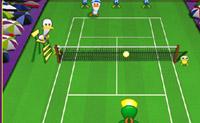 Este é um jogo de ténis muito divertido em que patos desportivos competem uns contra os outros no campo de ténis!