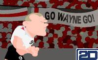 Quando o jogador de futebol Rooney fica zangado, é melhor fugires: à esquerda e à direita ele está a bater em jogadores e árbitros com a cabeça! Quanto melhor ele atinge os jogadores, árbitros e fiscais de linha, mais rápido ele corre. Quando não pressionares ou clicares a tempo, a sua cara bate nas cabeças e terás de começar de novo.