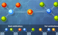 Um puzzle químico, é o que podemos chamar a este puzzle cheio de átomos. Interliga os átomos correctos e faz com que todos os átomos desapareçam! Clica nos átomos que estão entre dois átomos 'combináveis'. Eles fundem-se e desaparecem. Quando abrires o jogo, abaixo das 'Boas combinações' vês exactamente que átomos podes interligar ou não.