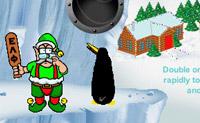 Tenta deixar aterrar a maior quantidade possível de pinguins num cesto com balões vermelhos ou verdes. Quando um pinguim chegar num cesto com balões pretos, o pinguim é morto. Também não batas muitas vezes porque, se não houver nenhum cesto, o pinguim é morto.