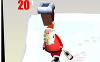 O Pai Natal bebeu um copo a mais... Queres ajudá-lo a manter-se no caminho certo?