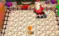 O Pai Natal bebeu um copo a mais... Queres ajudá-lo a manter-se de pé?