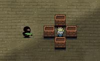 Bravo Ninja, pediram a tua ajuda! Os pequenos rapazes foram capturados num edifício abandonado. Assegura que os salvas, sem seres visto pelas câmaras. Assegura que não disparas quando estás perto de uma parede: podes atingir o alvo errado...