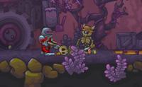 Nesta sequela de Zombotron és um robot que precisa de passar por uma cave cheia de zombies estúpidos desarmado, enquanto marcas tantos pontos quanto possível. Armas, etc. podem ser compradas no menu em baixo à direita. Este jogo tem dez desafiantes níveis: tenta bater cada um deles!