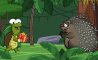Quando uma tartaruga est� com pressa, ela tem de ser muito criativa para chegar ao seu destino a tempo! A tartaruga neste jogo encontrou uma solu��o inteligente: construiu uma m�quina que a lan�a ao ar. Podes ajud�-la a continuar a voar o maior tempo poss�vel e cobrir a maior dist�ncia poss�vel? Isso d�-te pontos que podes usar para comprar aparelhos mais avan�ados, como uma catapulta ou um foguete.