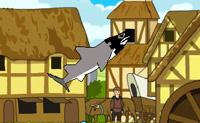 Na Idade Média, também havia tubarões, e eles eram tão sanguinários como são hoje em dia. Dá a este tubarão faminto e cruel o que ele precisa! Se quiseres fazer um super salto, primeiro tens que mergulhar para baixo e então podes acelerar para cima.