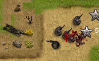 Este � um jogo do tipo Defesa da Torre onde colocas os teus soldados estrategicamente, para que eles possam eliminar as vagas de inimigos antes que cheguem ao outro lado do territ�rio. Podes tamb�m fazer raides a�reos!