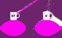 Esta é a segunda parte do divertido jogo 'Chávena de açúcar'. Desenha linhas para assegurar que as chávenas vão ficar cheias com o açúcar correcto! Usa um filtro para colorir o açúcar.