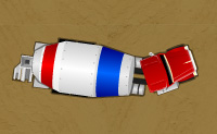 Tenta estacionar o teu camião no lugar certo, sem colidir com os outros carros ou itens.