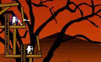 Protege a velha �rvore morta atirando com arco e flecha nos inimigos que s� querem uma coisa: abater a �rvore!