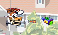 O Spunky é um bravo cão. Ele reparou que há uma invasão de alienígenas em curso e com a nave que ele construiu ele ataca os alienígenas. Depois de cada ronda podes comprar actualizações com o dinheiro que compraste durante a luta,