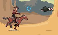 Tenta tornar-te no mais procurado bandido do Oeste Selvagem! Outro fora-da-lei, chamado El Muerto, está atrás de ti. Consegues matá-lo? Podes escolher dois modos de jogo: 'volta longa' e 'caminho rápido'. A 'volta longa' é um modo infinito onde tens de evitar todo o tipo de obstáculos e apanhar moedas. o 'caminho rápido' é uma espécie de corrida de cavalos.
