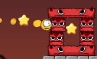 A partir de um pentagrama lanças girinos contra cubos diabólicos e bolas vermelhas. O objetivo é fazer com que esses personagens caiam das suas plataformas. Podes apanhar estrelas: agarra-as a todas! Quantos mais girinos
