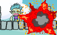 Faz todos os monstros desaparecem atirando granadas contra eles com o teu canh�o. Eles explodem e se fizeres isso corretamente, podes fazer o monstro desaparecer de um s� golpe.