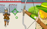 Tenta deixar este arqueiro medieval atirar no coração da sua meta, ou chegar o mais perto disso possível. Cuidado com a direção do vento e a gravidade: elas influenciam a tua seta. É contigo certificares-te de que a tua flecha vai na direção certa: move, portanto, o pequeno círculo verde para o alvo e certifica-te de que permanece lá!