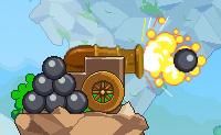 Aqui est� uma outra nova vers�o do viciante jogo 'Canh�o de bal�es'! Neste jogo, tamb�m vais disparar balas de canh�o contra v�rios bal�es (bal�es de couro, bal�es explosivos, bal�es vermelhos) para faz�-los explodir. Nesta edi��o de Canh�o de bal�es, tamb�m h� novos obst�culos desafiantes, que tens de evitar!