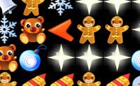 Esta é uma versão de Natal muito divertida de Bejeweled, em que tens de fazer a maior quantidade possível de séries de 3 objectos iguais deslocando as linhas ou colunas. Procura os sinos, prendas, ursinhos de peluche, homenzinhos de bolachas de gengibre,  bolas de natal e junta-os: assim que tiveres três iguais, estes desaparecem.