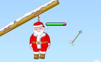 Esta é uma divertida versão de Natal do jogo de tiro com arco chamado 'Gibbets e os abutres'! Salva o Pai Natal da forca em que ele vai ser enforcado. Atira com o teu arco e flecha para cortar a corda, para que Pai Natal possa pousar em segurança! Se fizeres isso sem o ferir, vais ganhar uma estrela. Sê rápido o suficiente, caso contrário, o Pai Natal vai sufocar!