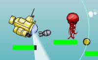 És um pescador que apanha todo o tipo de animais marinhos com o teu submarino. Medusas, tubarões, não importa, Vais apanhá-los a todos. Assim que apanhes um animal, uma moeda aparecerá. Agarra-os a todos! Tem cuidado para que o submarino não bata nas pedras ou noutros obstáculos!