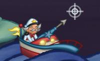 Este é um jogo divertido e original com gráficos agradáveis. À noite, estás a navegar no mar no teu barco pequeno e estás a tentar apanhar todas as estrelas para preencher o teu farol. Navega no teu barco em direção a elas e, de seguida, manda o teu arpão. Quanto mais estrelas apanhares, mais pontos ganhas! Podes usar estes pontos para atualizações, velocidade, o teu arpão e para o tempo que te resta. O mar está cheio de perigos: também há inimigos à espreita, como caranguejos malvados e gaivotas. Quando a casa estiver cheia, podes apanhar os bónus. Faz o trabalho antes do nascer do sol!