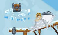 Larga os baús de tesouro nas águas geladas do Pólo Norte para que os piratas os possam apanhar. Podes mover os baús cortando correntes, por exemplo. Também podes rolar outros objetos contra eles, ou até mesmo explodir bombas para empurrar as caixas para a água. Os icebergs podem ser removidos, clicando sobre eles.