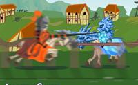 Grandes desafios nos jogos de duelo no reino de Eremon. Cavaleiros, prontos para chacinar os seus rivais, não vão parar por nada. Estás pronto para a batalha? Escolhe o teu cavaleiro e a cor do teu cavalo e entra no campo de batalha ...